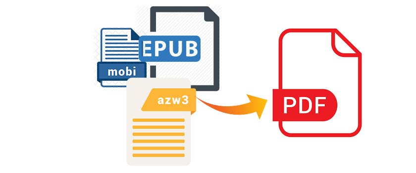 convert ebooks into pdf