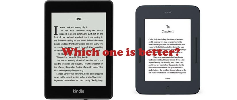 Kindle vs. Nook