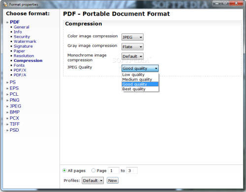 Compress file with PDF24 PDF Creator