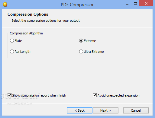 Compress pdf with Nice PDF Compressor