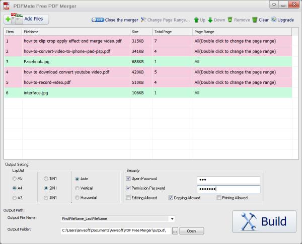 free  pdf merge software