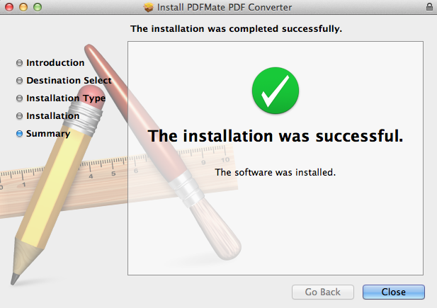Installed successfully