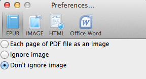 PDF to EPUB setting