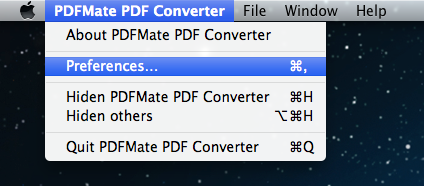 How to use PDFMate PDF Converter (Mac Version)-Advanced