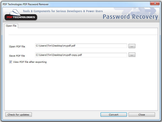 Desktop PDF Password Remover