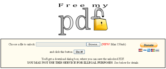 Online PDF Password Remover