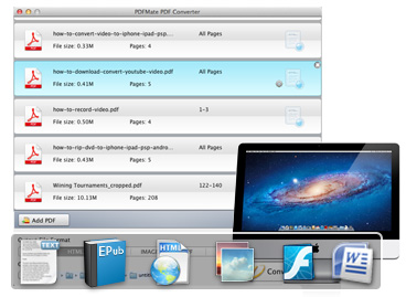 Mac PDF Converter, convert PDF to Word/Text/EPUB/Image/HTML/SWF