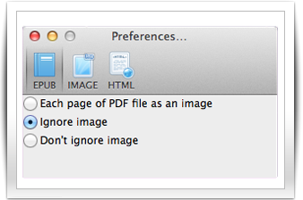 Customize PDF Conversion