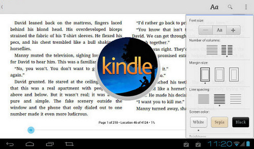 Read Kindle Books on Android Tablet