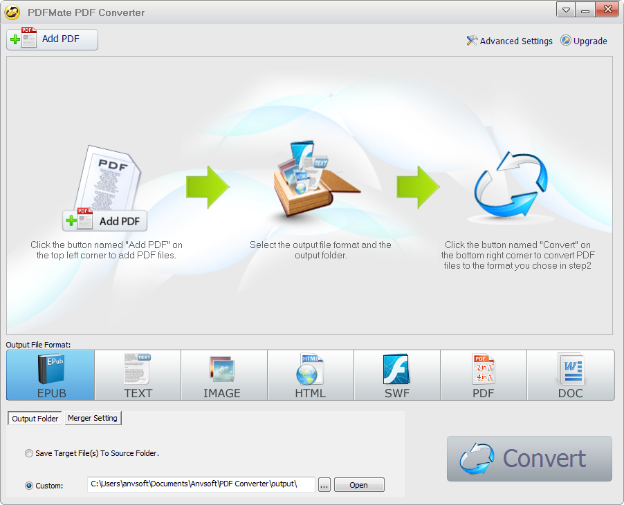 PDFMate PDF Converter full screenshot