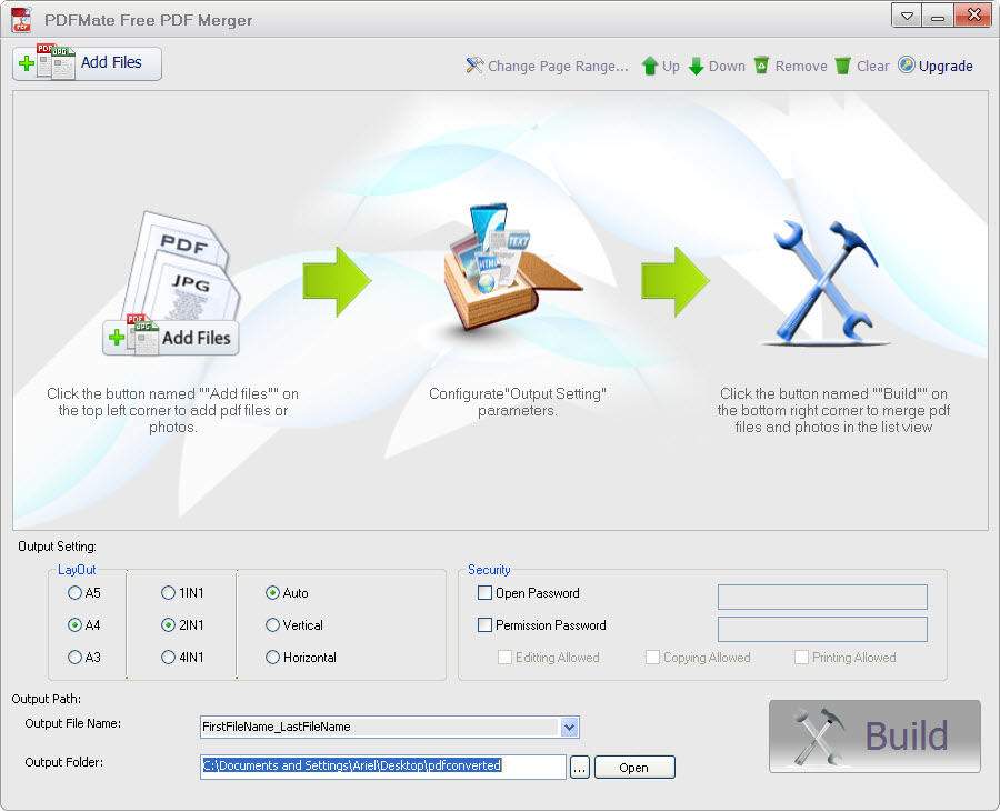 Windows 7 PDFMate Free PDF Merger 1.0.9 full