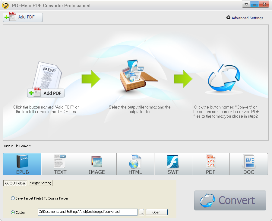 PDFMate PDF Converter Professional full screenshot